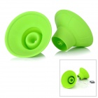 Creative Portable Silicone Speaker for iPhone 5 + More - Green (2 PCS)