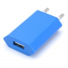 AC Powered USB Charging Adapter for iPhone 5 - Blue (EU Plug)