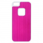 Protective Aluminum + Plastic Back Case for iPhone 5 - Deep Pink