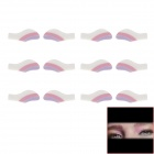 Magic Cosmetic Instant Eyeshadow Stickers - White + Deep Pink + Purple (6 PCS)