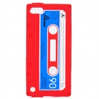 Cassette Tape Style Protective Silicone Back Case for iPod Touch 5 - Red