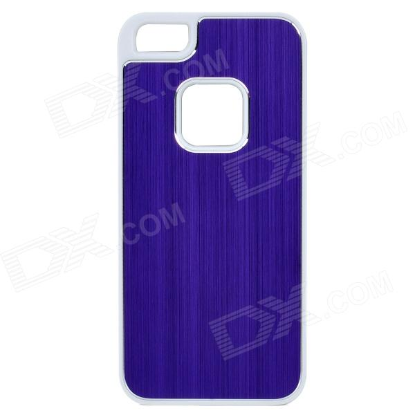 Protective Aluminum + Plastic Back Case for Iphone 5 - Purple