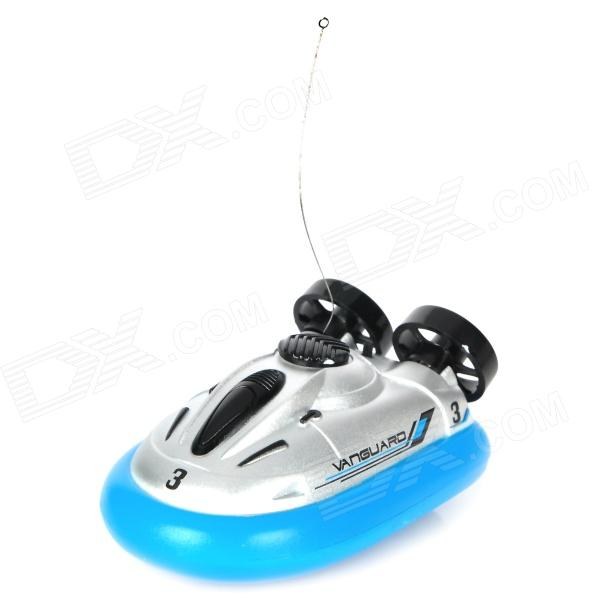 Water 2-Channel Radio Remote Control Hovercraft - Blue + Silver + Black