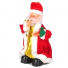 Tradition Electronic Plastic / Velvet Santa Claus Toy w/ Russian Song - Red + White (3 x AA)