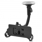 Suction Cup 360 Degree Rotation Car Mount Holder for Iphone 5 - Black