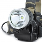 New-1939 800lm 3-Mode White Light Headlamp - Silver + Light Grey (1 x 18650)