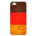 Germany National Flag Pattern Protective Plastic Case for Iphone 5 - Brown + Red + Yellow