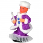 Velvet Santa Girl Toy