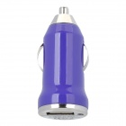 Portable USB Car Cigarette Lighter Power Adapter / Charger - Purple (12~24V)