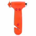Multi-Function Car Emergency Hammer with Seat Belt Cutter - Orange Red