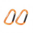 Acecamp Munkees Outdoor Sports Quick Release Carabiner Hook - Orange (2 PCS)
