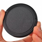 55mm Universal Plastic Lens Cap for Sony / Pentax / Fuji Camera - Black