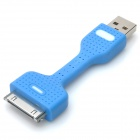 Portable USB Data Transmission & Charging Cable for iPhone / iPad / iPod - Blue