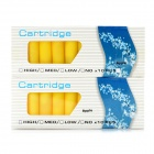 Apple Flavor No Nicotine Electronic Cigarette Cartridge Refills - Yellow (2 x 10 PCS)