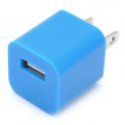 """ZY-1000 """"1000mA"""" USB Power Adapter / Charger for iPhone / iPod - Blue (2-Flat-Pin Plug / 110~240V)"""