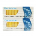 Doublemint Flavor No Nicotine Electronic Cigarette Cartridge Refills - Yellow (2 x 10 PCS)
