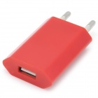 """""""1000mA"""" USB Power Adapter / Charger for iPhone / iPod - Red (AC 100~240V / EU Plug)"""