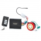 YQS NST-809 Motorcycle Double Way Anti-Theft Security Wireless Alarm Set - Black