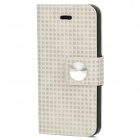 Stylish Protective PU Leather Case for iPhone 5 - Beige