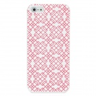 Protective Plastic Case for Iphone 5 - White + Red