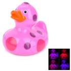 Funny Floating Duck Bath Toy w/ Color Changing Light Effect for Kids - Deep Pink