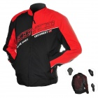 Scoyco JK31-L Multi-Function Motorcycle Riding Protection Jacket Set - Red + Black (Size L)