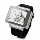 "i3 GSM Watch Phone w/ 1.8"" Resistive Screen, Quad-Band, FM and Single-SIM - Silver + Black"