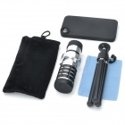 Detachable 12X Zoom Telephoto Lens Set for Iphone 4 / 4S - Silver + Black