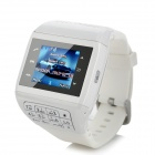 "Q8 GSM Watch Phone w/ 1.8"" Resistive Screen, Quad-Band, FM and Dual-SIM - White"