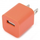 """ZY-1000 """"1000mA"""" USB Power Adapter / Charger for iPhone / iPod - Orange (US Plug / 110~240V)"""