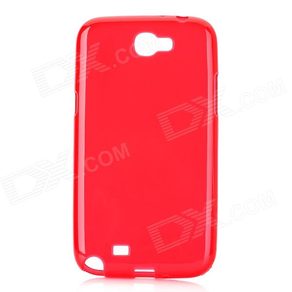 Protective TPU Back Case for Samsung Galaxy Note II N7100 - Red enkay protective tpu back case cover w stand for samsung galaxy note 4 n9100 green