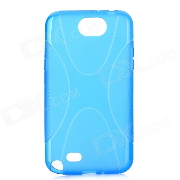 X Pattern Protective TPU Back Case for Samsung Galaxy Note II N7100 - Blue enkay protective tpu back case cover w stand for samsung galaxy note 4 n9100 green