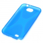 X Pattern Protective TPU Back Case for Samsung Galaxy Note II N7100 - Blue