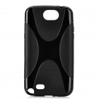 X Pattern Protective TPU Back Case for Samsung Galaxy Note II N7100 - Black