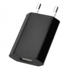 AC Powered USB Charging Adapter for iPhone 5 - Black (EU Plug)