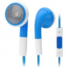 Stylish Earphone with Microphone / Volume Control - Blue (3.5mm Jack)