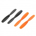 Replacement PVC Main Rotor Blades for U816 UFO Helicopter - Orange + Black (4 PCS)
