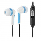 Feinier FES16 Stereo 3.5mm In-Ear Earphone w/ Microphone - White