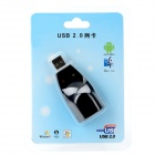 USB 2.0 to 10/100m RJ45 Ethernet Network Adapter Dongle - Black