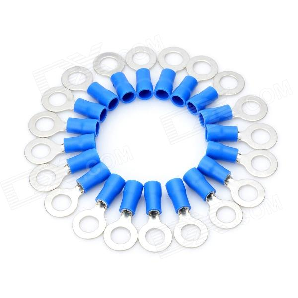 Round Ring Connecting Terminal Blocks - Blue + Silver (20 PCS)