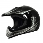 Cool IBK Motorcycle Sports Racing Helmet - Black (Size L)