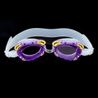 Cute Cartoon Style Swimming Goggle Glasses with Carrying Bag for Kids - Purple