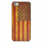 Protective Retro Flag of United States Pattern Back Case for Iphone 5 - Yellow + Red + Coffee