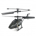 8004 2.5-CH R/C Helicopter w/ IR Controller & Replacement Plane Head - Black + White