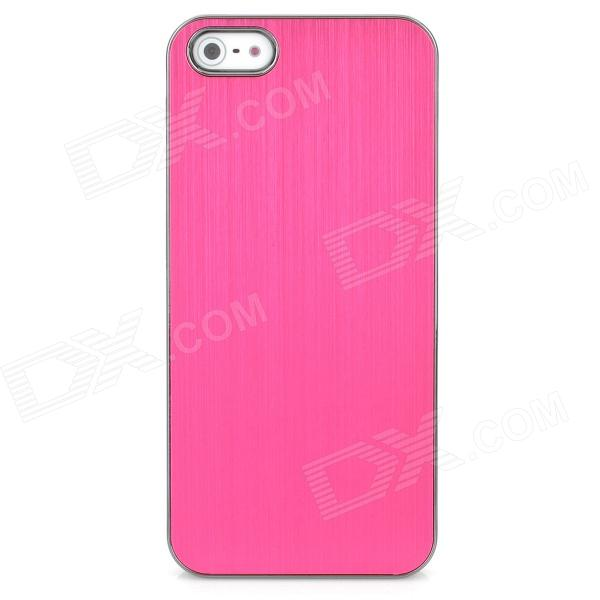Protective Wiredrawing Aluminum Alloy Case for Iphone 5 - Red