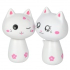 Cute Nodding Head Gum Cat Set - White (2 PCS)