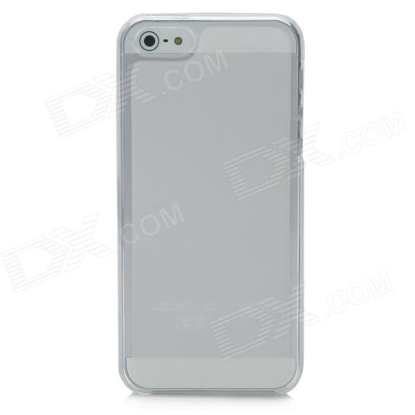 Protective TPU Case for Iphone 5 - Translucent White protective silicone case for nds lite translucent white