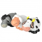 Cute Nodding Head Gum Cow / Horse / Sheep Set - White + Grey + Black (3 PCS)