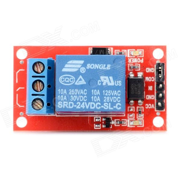 One Channel 24V Relay Module for Arduino (Works with Official Arduino Boards)