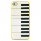 Protective Piano Keyboard Style Back Cover Case for Iphone 5 - Yellow